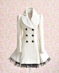 I want cute double breasted dress coats!!!!   This one can be found on Sammy Dress.