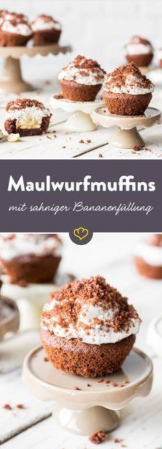 Kleine Maulwürfe machen … niedliche Maulwurf Muffins