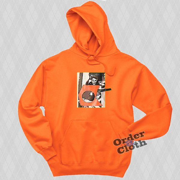 Ethan Dolan Orange Skeleton Hoodie from orderacloth.com