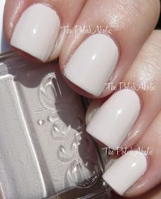 The Polish Aholic - Essie in Urban Jungle is outstanding. It looks white from a distance but isn't. It has the tiniest hint of taupey pink that keeps it from looking too stark. The color looks good on fingers or toes and two coats is a perfectly opaque finish.