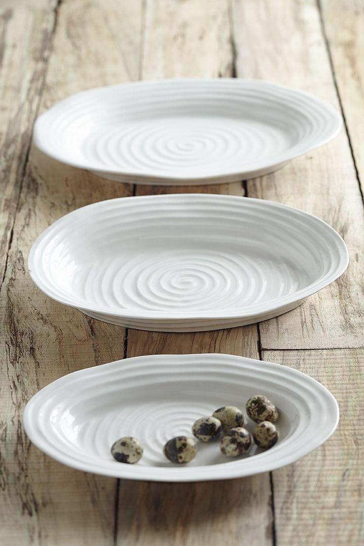 Sophie Conran White Ceramic Oval Plates for Portmeirion & 14 best Sophie Conran for Portmeirion images on Pinterest | Sophie ...