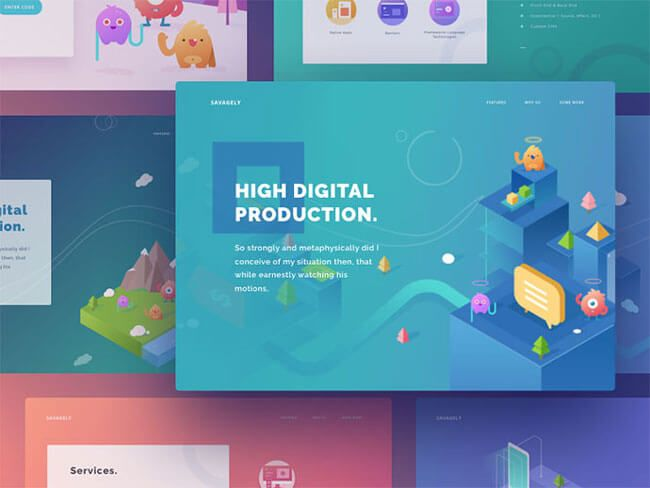 20 Examples Of Amazing Isometric Illustrations In Web Design Web Design Illustration Design Web Design Isometric Illustration Web Inspiration