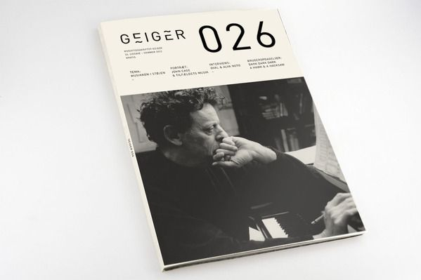Geiger Magazine by Mads Thorsoe, featuring Philip Glass on the cover