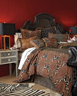Safari and animal print bedding collections for an exotic escape.