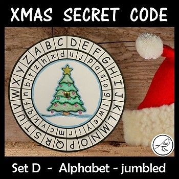 Children love mystery and being a detective! Your students will have so much fun making and using these secret code wheels during the Christmas season. This template has the upper case alphabet on the outer wheel and the lower case alphabet (jumbled) on the inner