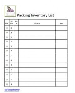 house contents list template