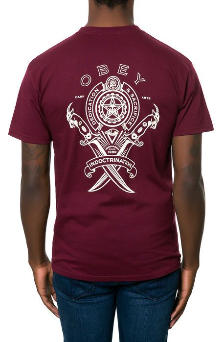 Obey Tee Dark Persuasion Tee in Oxblood - Karmaloop.com