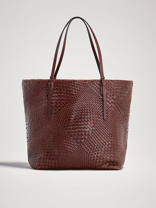 8ab38b2f10 PLAITED LEATHER TOTE BAG - Women - Massimo Dutti | bags and clatches ...