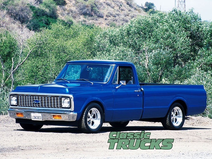 chevrolet c10 1972 blue droped Chevy C10 6772 pickup