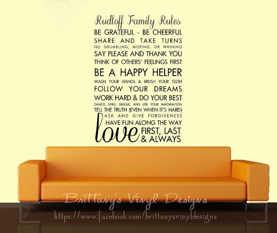 want to buy this.: Subway Art, Buy, Wall Decals, Brittany Vinyls, Decals 35Inch, Vinyls Design, Decals 45Inch, Art Walls, Families Rules