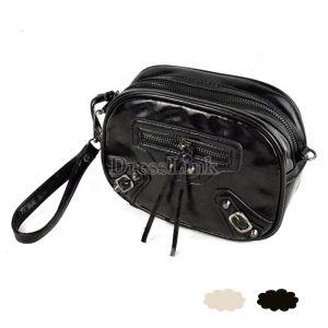 New Restore Mini Girl Handbag Clutch Cross Body Black/Beige