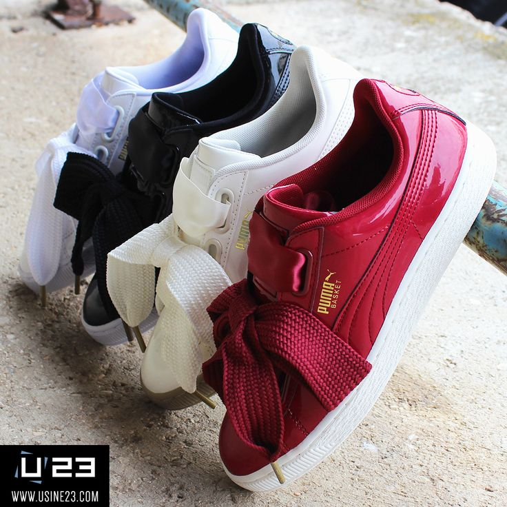 Sneakers Femme - Puma Basket Heart Patent Wns