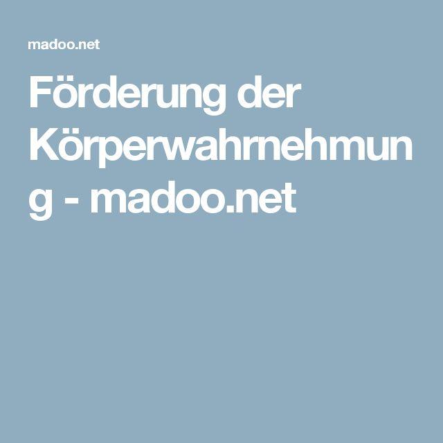 Förderung der Körperwahrnehmung - madoo.net