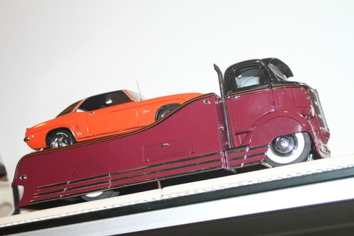1938 Gmc Custom Car Carrier Transporter 1 24 Diecast Car