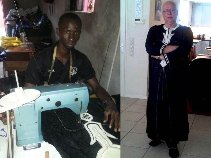In Gambia is de kaftan (vaak met enkellange broek) ook een mannelijk gewaad: de boubou.  Mooi ook voor Nederland, voor bijzondere momenten!