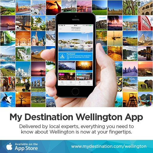 Visitors to #Wellington can now tap into specialist local tips and keep up-to-date with what to see and do on the 'My Destination Wellington' #app - available to download from the Apple App Store. https://itunes.apple.com/app/id960252372
