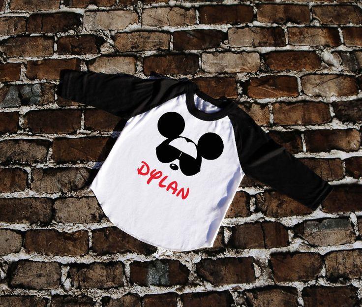 Mickey Mouse Glasses with Name | Personalized Disney Shirt | Boy Toddler Youth Shirt | Disney Family Matching Shirts | Raglan Baseball Shirt by LittleJaneLaneDesign on Etsy https://www.etsy.com/listing/488962578/mickey-mouse-glasses-with-name