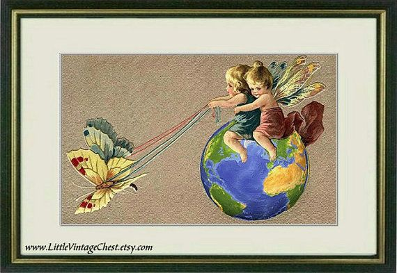 ON THE FLY   Poster art print   Vintage art by littlevintagechest, $7.99