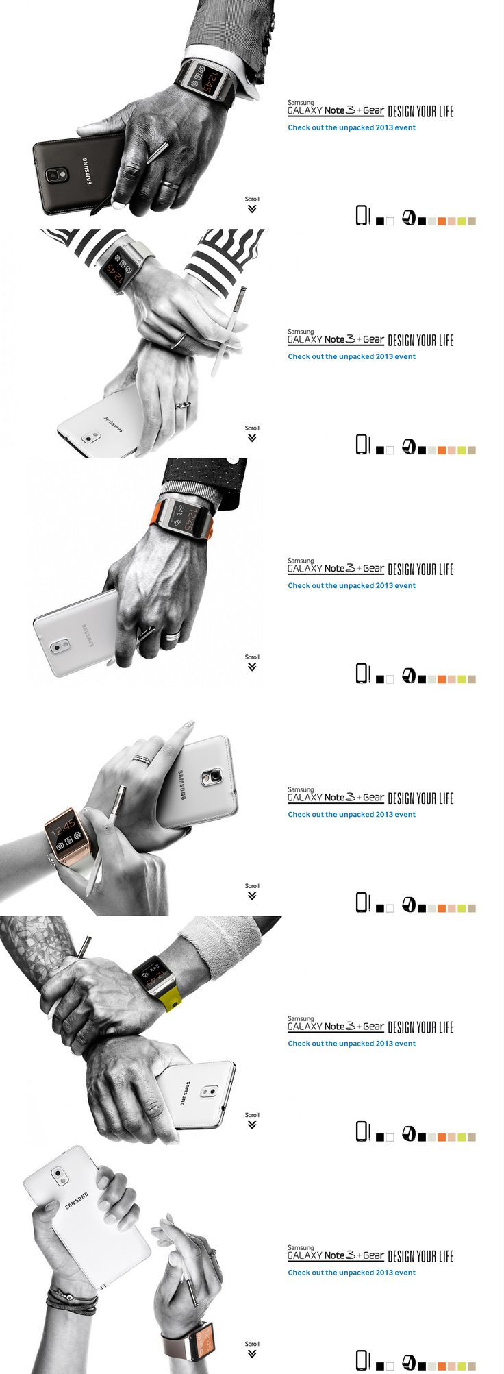Samsung Galaxy Note3 + Gear Web Site
