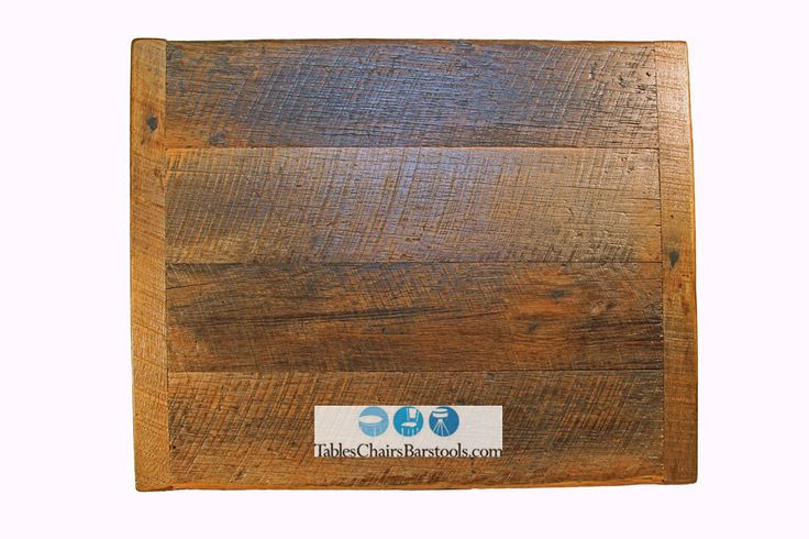 """Crafted from reclaimed solid oak barn wood, this 2"""" thick rustic table top has no shortness of character and charm!  Because the wood has been reclaimed, it features one-of-a-kind knots and varying grain patterns. No two table tops will be identical.  Made-to-order (please call for current lead time) Solid oak has been salvaged from mainly Pennsylvania or Ohio barns, which gives old trees new life Amish made, made in the U.S.A. Fully sanded and sealed with a heavy sealer Hand-sanded for a…"""