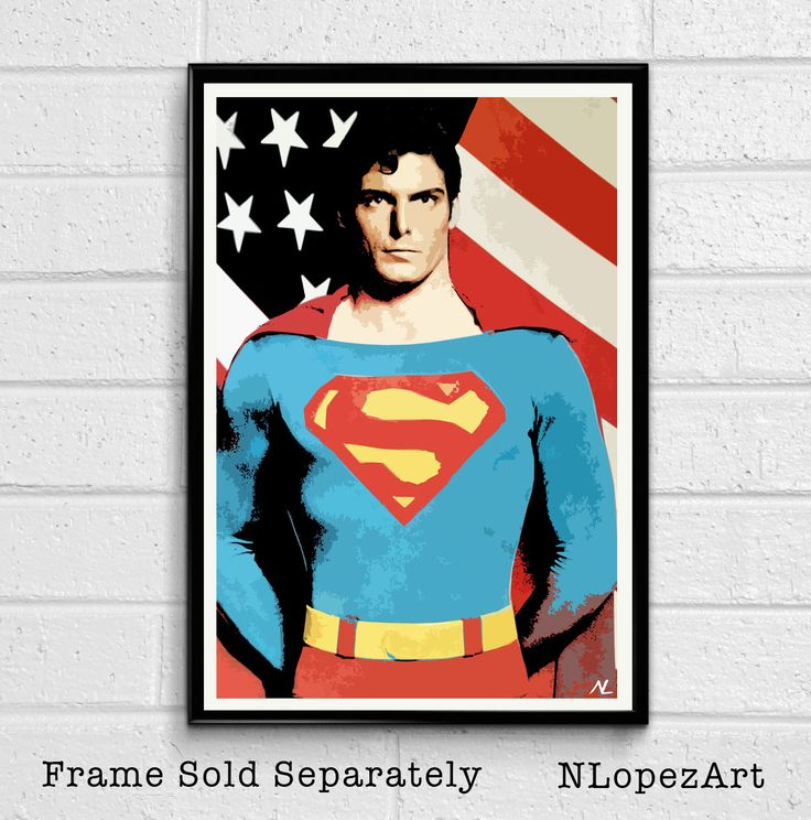 Superman Christopher Reeve Pop Art Poster Print Size 11 x 17 for $15 + S&H…