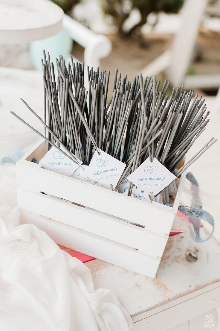 Sparklers!  #sparklers #labels #destinationwedding #greekwedding #greekislands #weddingplanner #dreamsinstyle