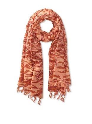 62% OFF Sir Alistair Rai Women's Tiger Shivaya Mantra Wrap, Cantaloupe