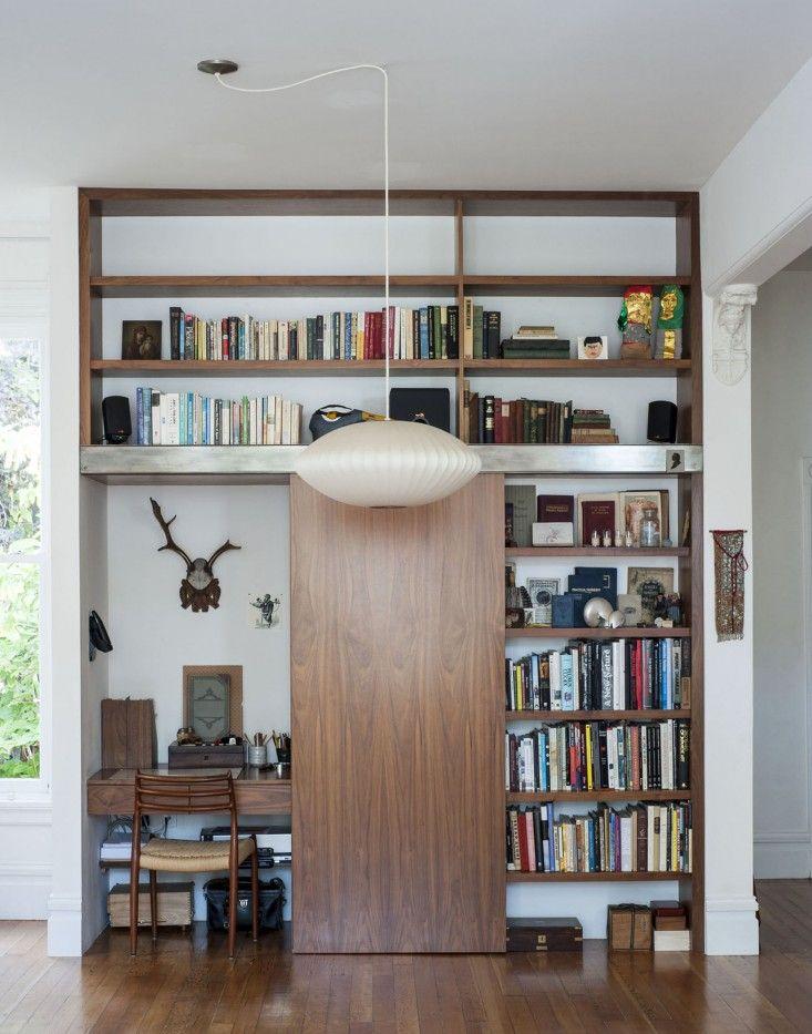 Werkplek in inbouwkast | Inrichting-huis.com