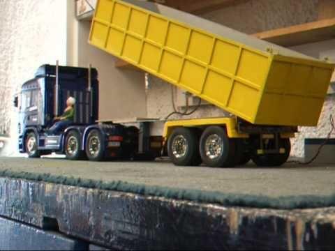 Tamiya Truck Tipper Trailer Peter Dunkel Rc Pin Wall