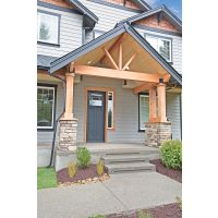 Open Beam Entry Cedar Wrapped Posts Pine T Amp G Vaulted