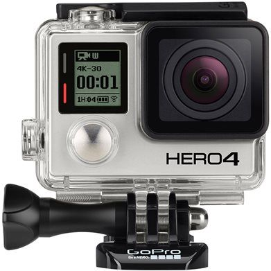 GOPRO HERO4 BLACK Image - will be the first item in my cart if I win in order to document all the fun I'll be having at the beach!