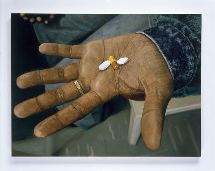 """6 мировых художников для АНТИСПИД-выставки в PinchukArtCentre Дэмиен Херст, """"Набор лекарств от ВИЧ/СПИДа"""""""