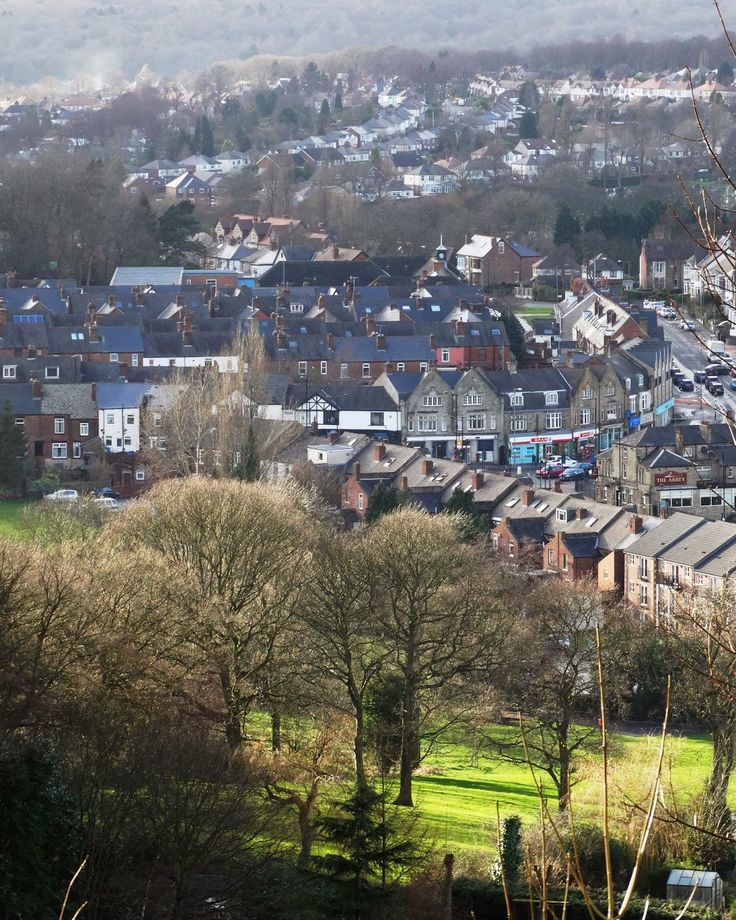 A view of Woodseats from Graves Park of Abbey Lane  and the Bottom of Meadowhead  Sheffield