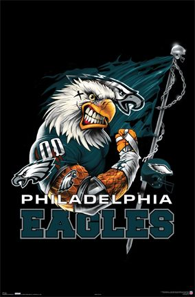 Eagles Football | NFL Philadelphia Eagles Football Team Logo Poster