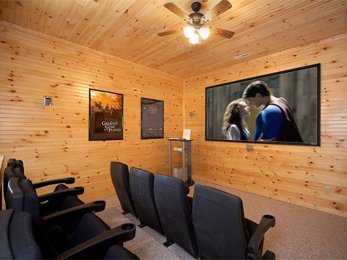 17 best home theater room pigeon forge gatlinburg luxury for Nuvola 9 cabin gatlinburg