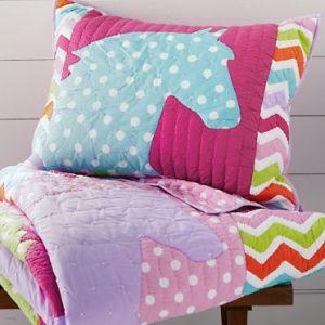 Coloured Ponies Pillow Sham