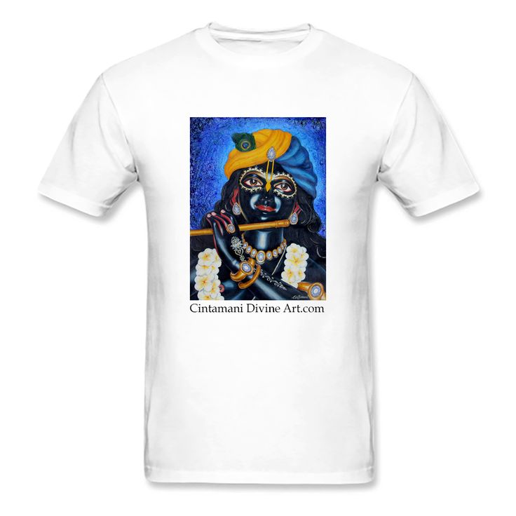 Blue Champa Śyām T-Shirt - Cintamani Divine Art- https://cintamanidivineart.com/product/blue-champa-syam-t-shirt/