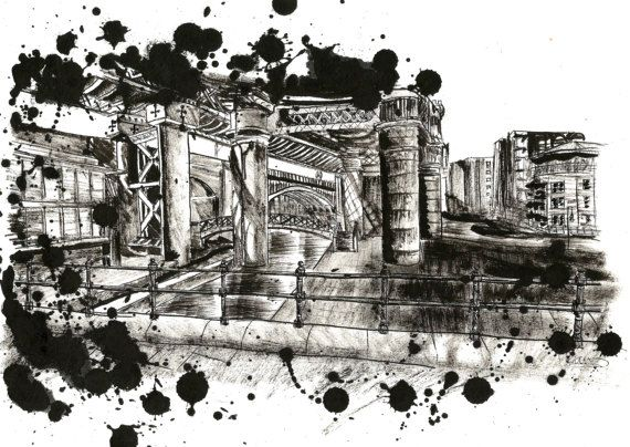 Check out this item in my Etsy shop https://www.etsy.com/uk/listing/502569326/original-pen-and-ink-urban-landscape