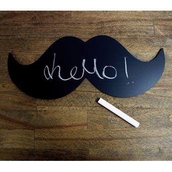 Magnetic mustache chalkboard