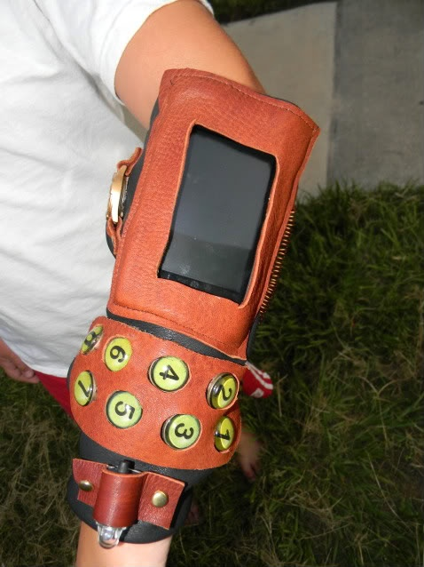 The best way to beat the boredom of standing in long lines at conventions, is to wear this iPod holder armband.