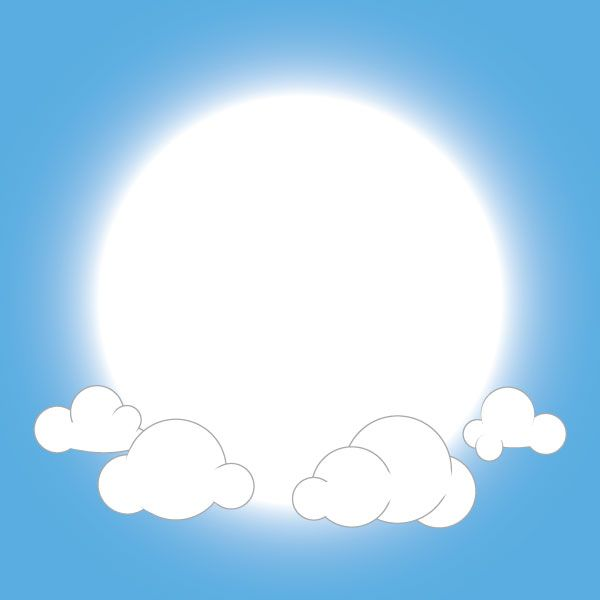 Vector Fluffy Clouds Background