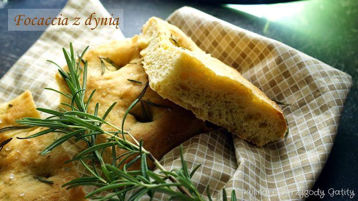 Focaccia z pieczoną dynią i rozmarynem