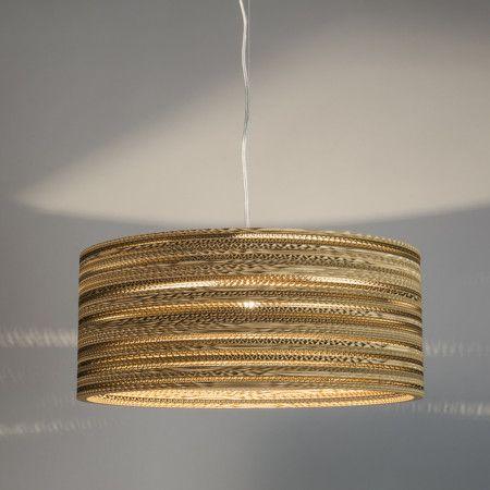 Pendelleuchte Karton Drum: Top Designer Leuchte, Die Aus Geklebten Ringen  Aus Recyceltem Karton