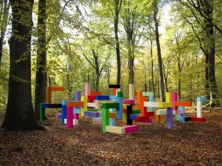 """Primary Structure"" playground sculpture by Jacob Dahlgren at Wanås in Sweden"