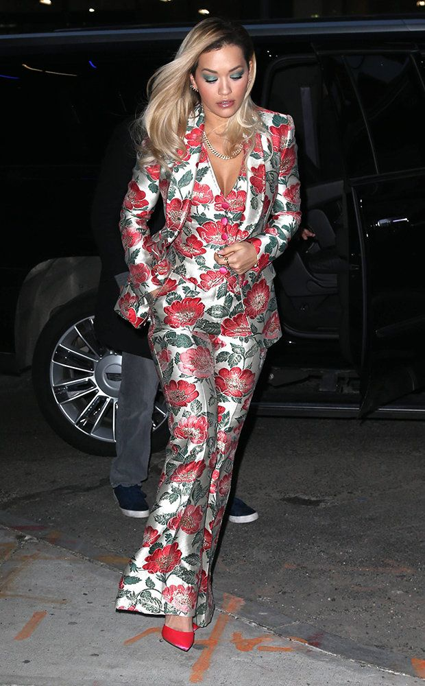 Fifty Shades of Rita! Singer crams cleavage into plunging floral suit The Rita Ora Liam Payne collaboration is the latest single from the former X Factor judge following her smash hit Anywhere. Now the 27-year-old songstress has been pictured promoting the new song in New York City looking every inch the superstar. Ensuring all eyes were on her Rita stepped out in an eye-catching three-piece floral suit that clung to her killer figure in all the right places. The blonde oozed glamour in the…