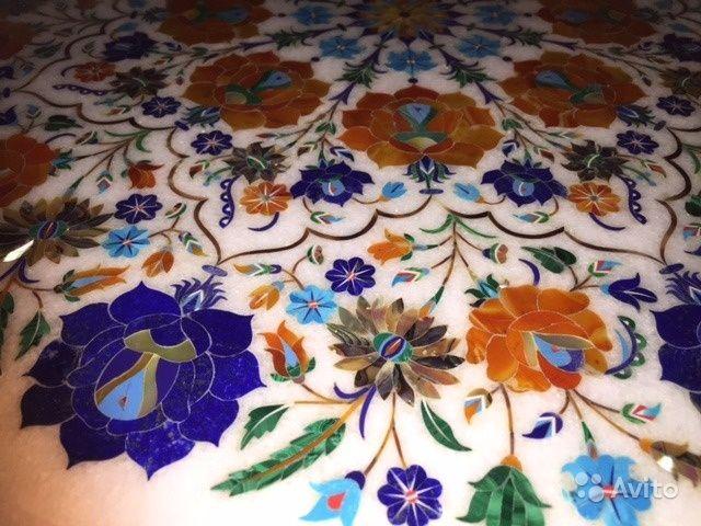 Столешница из мрамора с мозаикой — фотография №3