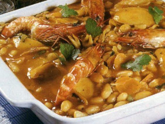 Receita Prato Principal : Feijoada de chocos com camarão de Iracema