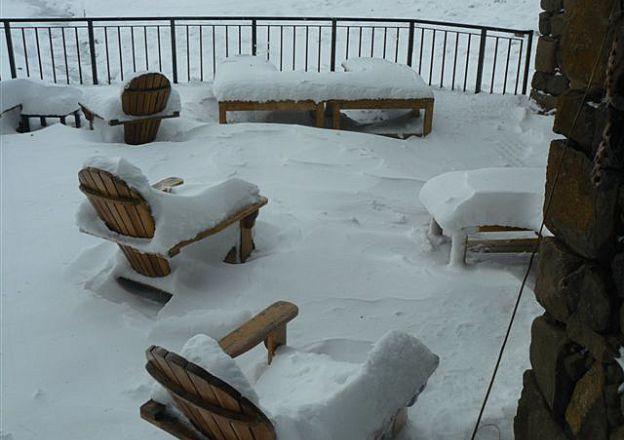 Dit sneeu dik stukke by Tenahead Mountain Lodge.