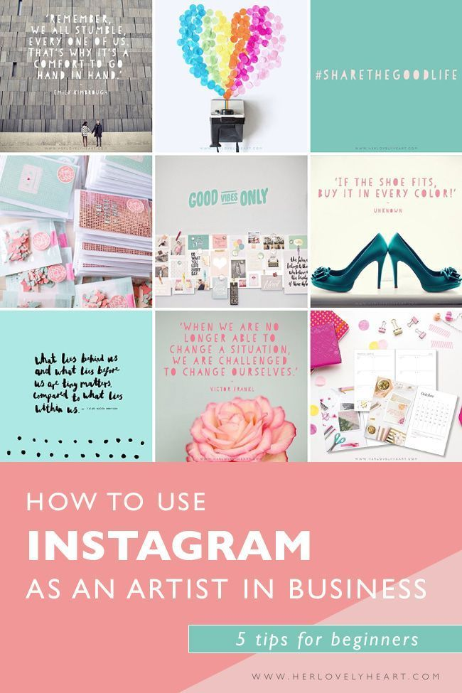 How to use Instagram as an artist running a business? Click through to read.