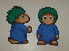 Hama beads - big Lemmings by ~acidezabs on deviantART